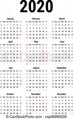 calendrier semaine simple debuts blanc arriere plan
