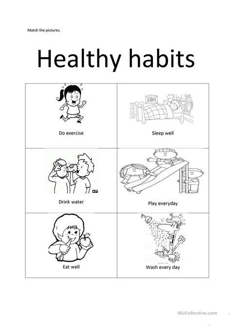Good Habits For Kids Worksheets