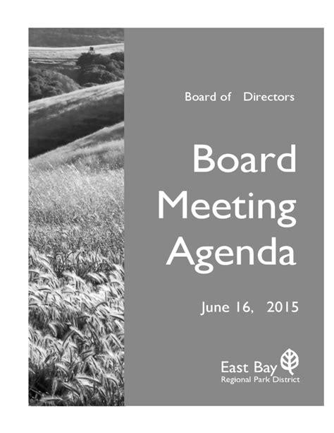 board meeting agenda sample template