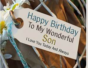 Birthday Wishes For Son Sayingimages Com