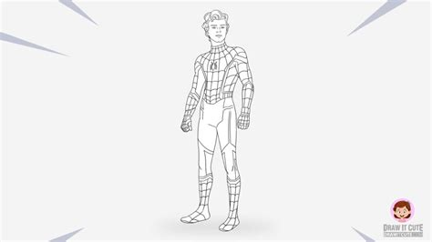 draw spider man tom holland draw  cute