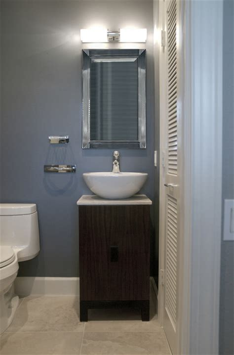 Bathroom Ideas Half Baths by Half Bath Contemporary Bathroom Boston By Megan