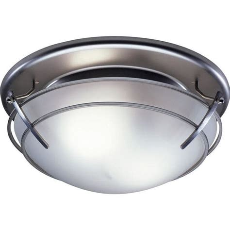 decorative bathroom fan light combo broan decorative satin nickel with frosted glass shade 80 23062