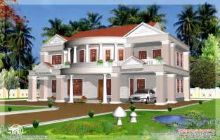 big house plans 2992 sq big house elevation kerala home design and floor plans