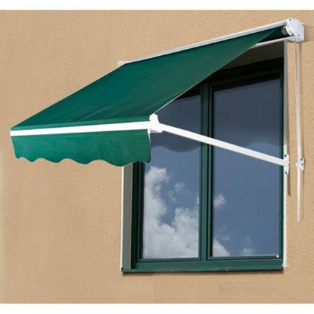 outsunny  ft drop arm manual retractable window awning walmartcom
