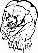 Panther Fierce Coloring Printable Draw Categories Tattoo Animals sketch template