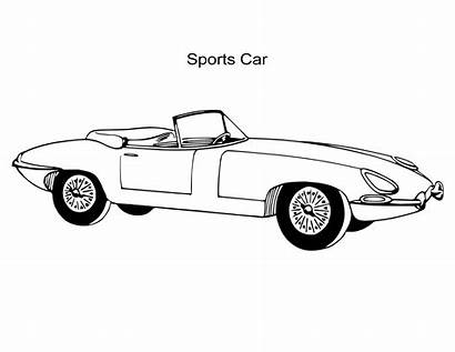 Coloring Cars Pages Sport Sports Sheets Antiques