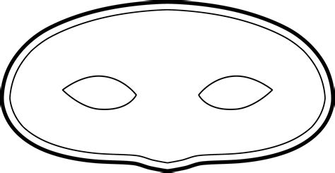 Mask Template Mask Template Clipart Best