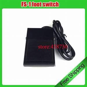 1pcs Fs 1 Foot Switch    Iron Machine Self Reset Foot Pedal