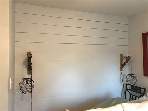 Faux Shiplap Wall by The Easiest Way To Get A Faux Shiplap Wall Hometalk
