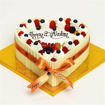 Fruit Fresh Cream Gateau Cake Heart Shaped