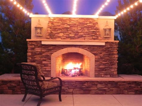 stone outdoor fireplace patio rustic  eldorado