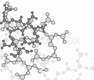 Abstract Molecular Structure Background Over The White