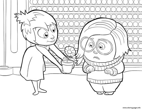 Joy And Sadness Inside Out Coloring Pages Printable