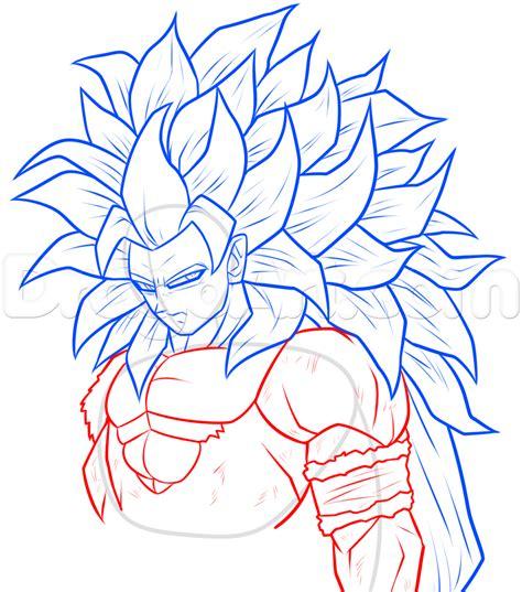 draw super saiyan  goku step  step dragon ball
