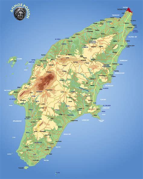 Rent a car in Rhodes - Rhodes Map from Alianthos