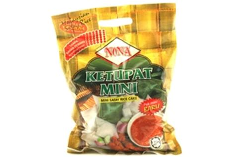 nona ketupat mini mini satay rice cake oz  units