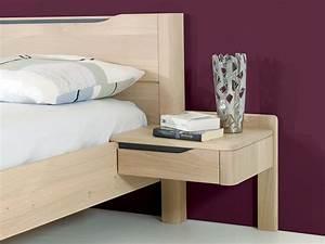 Lit Chevet Suspendu : chevet suspendu 1 tiroir design en image ~ Teatrodelosmanantiales.com Idées de Décoration