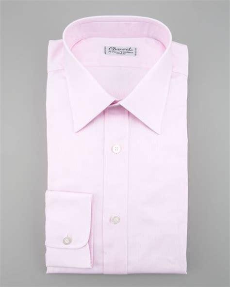 Light Pink Shirt Dress by Charvet Textured Dress Shirt Light Pink In Pink For