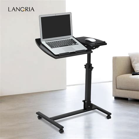 mobile laptop desk cart langria portable rolling laptop cart mobile desk notebook