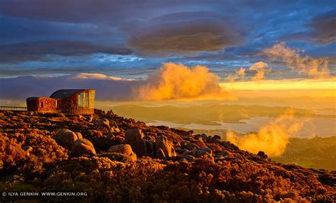 Dramatic Sunrise Over Hobart From Mount Wellington Lookout