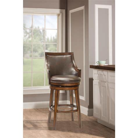 hillsdale furniture lyman 30 5 in rustic oak cushioned
