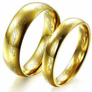 the lord of the rings stainless steel wedding ring amazon With lord of the rings wedding band amazon