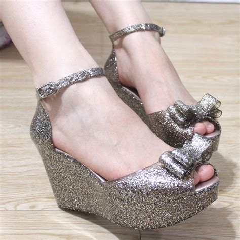 bling  melissa jelly shoes glitter bow open toe