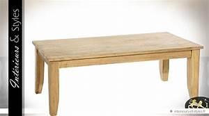Table Basse Rustique : table basse rustique en mindi finition naturelle 130 x 60 int rieurs styles ~ Teatrodelosmanantiales.com Idées de Décoration