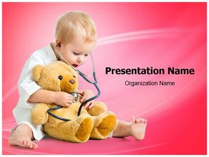 kid playing doctor medical powerpoint template