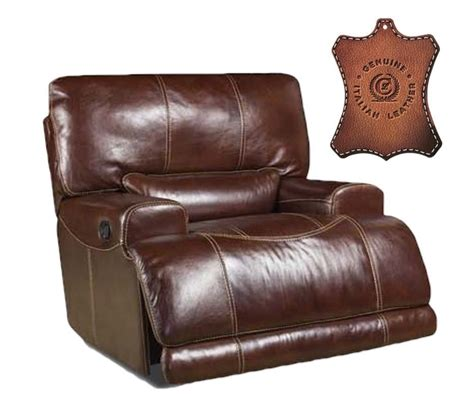 italian leather reclining sofa divani casa begonia modern