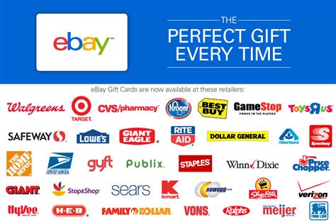 buy ebay gift cards  retail stores