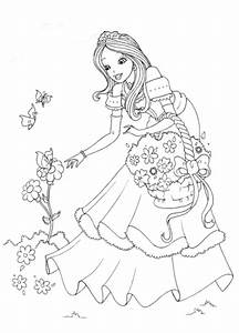 Princess Coloring Pages for Kids | Coloring Ville