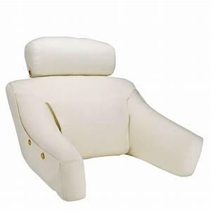 bedlounger pillow pillow headrest levenger With bed recliner pillow
