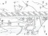 Billy Goats Gruff Three Coloring Pages Printable Story Getcolorings Getdrawings sketch template