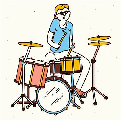 Drums Player Giphy Aiste Gifs Musician