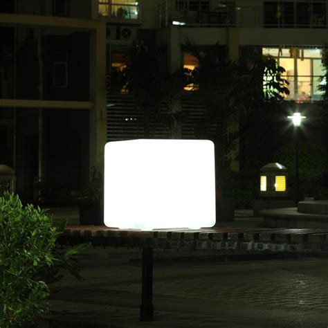 glowing led chair outdoor remote led cube sp 6060