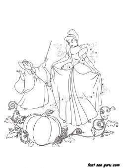 printable disney characters cinderella   fairy godmother coloring pages  printable