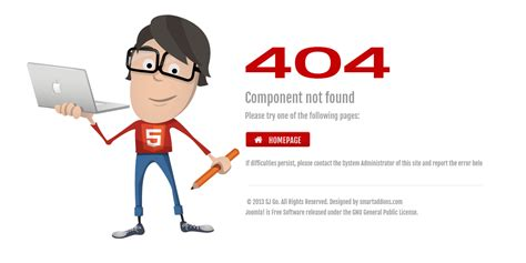 Custom 404 Page Template Free by Preview Sj Tech Responsive Joomla Template With K2
