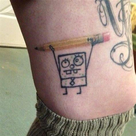 spongebob tattoo ideas  pinterest gary