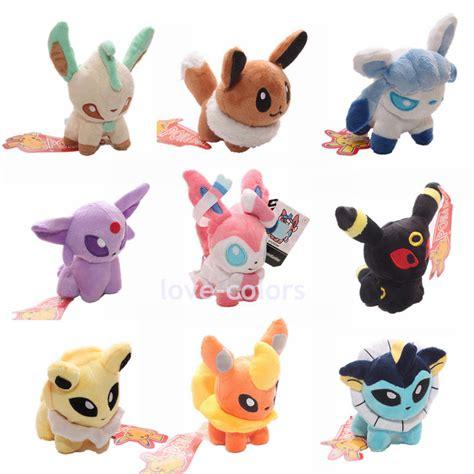 boneka pikachu s set of 9 pcs plush doll eevee leafeon umbreon