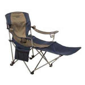 folding cing chair with footrest