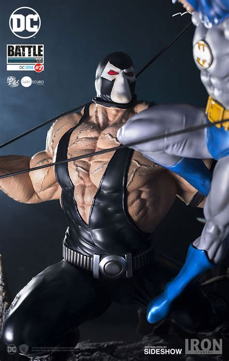 Dc Comics Batman Vs Bane Diorama By Iron Studios