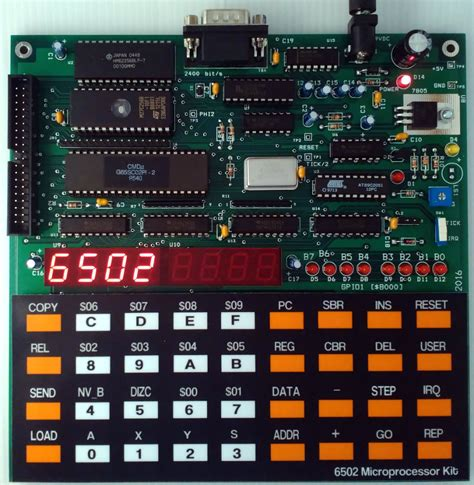 Build Your Own 6502 Microprocessor Kit