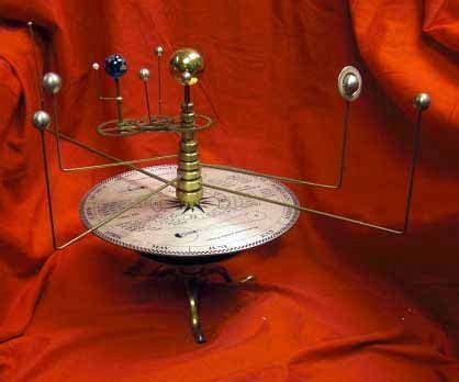 Antique Style Orrery Model Of The Solar System
