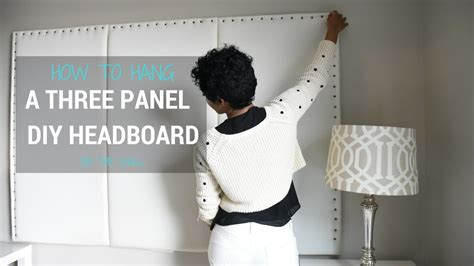 how to hang a headboard diy headboard how to hang a 3 panel headboard