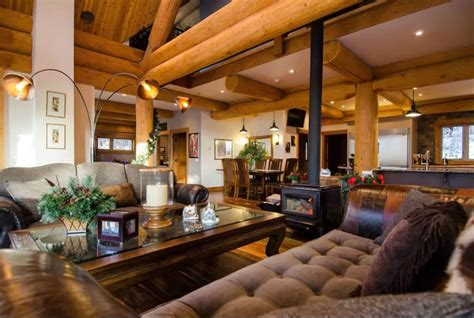 ways  accent  log cabin     artisan custom log homes