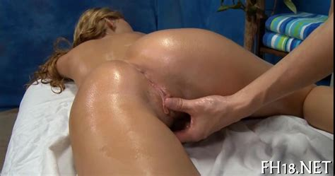 Sexy Blonde Teen Oiled Up For Hot Hardcore Massage Sex On