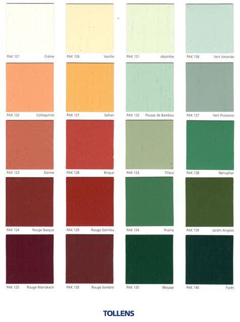 couleurs de tollens nuancier tollens nuancier pas cher