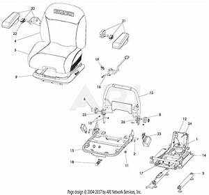 Gravely 992236  001000 - 019999  Pro-turn 460 Diesel Parts Diagram For Seat